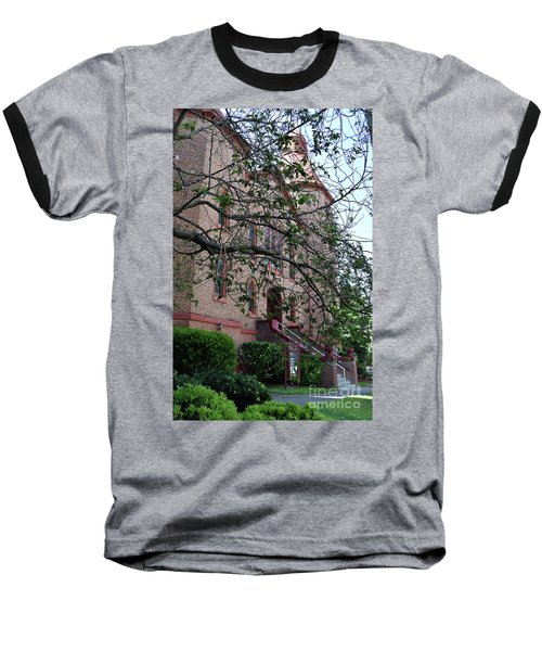 Baseball T-Shirt featuring the photograph Sidney Park Cme Church by Skip Willits