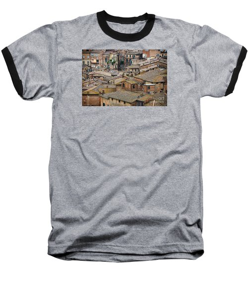 Siena Colored Roofs And Walls In Aerial View Baseball T-Shirt
