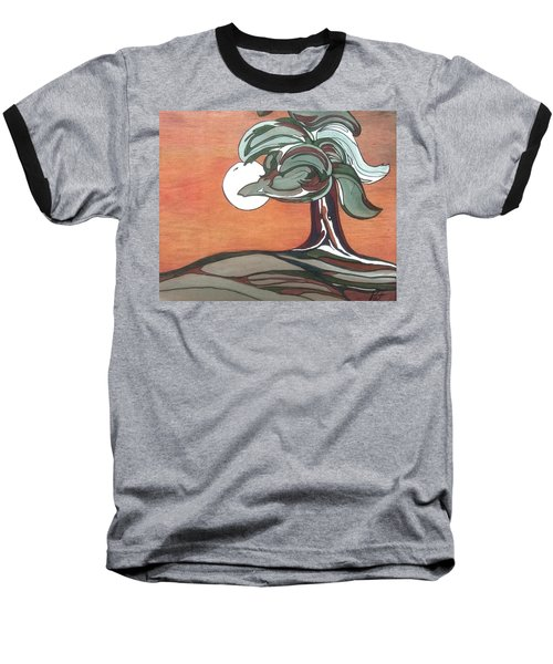 Baseball T-Shirt featuring the painting Sienna Skies by Pat Purdy