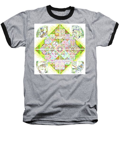 Sierpinski's Baseball Diamond Baseball T-Shirt