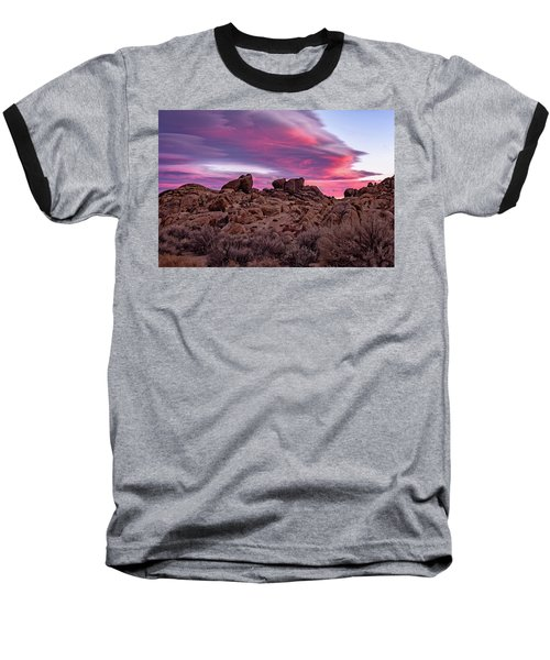Sierra Clouds At Sunset Baseball T-Shirt