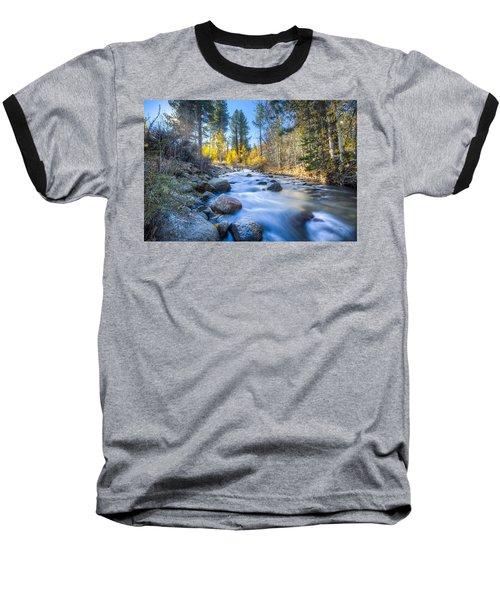 Sierra Mountain Stream Baseball T-Shirt