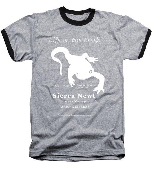 Sierra Newt - White Baseball T-Shirt by Lisa Redfern