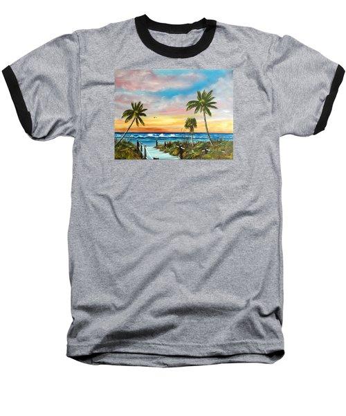 Siesta Key At Sunset Baseball T-Shirt by Lloyd Dobson