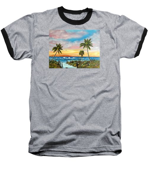 Siesta Key At Sunset Baseball T-Shirt