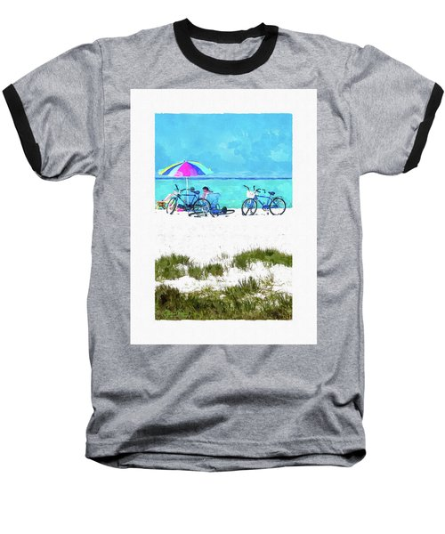 Siesta Key Beach Bikes Baseball T-Shirt