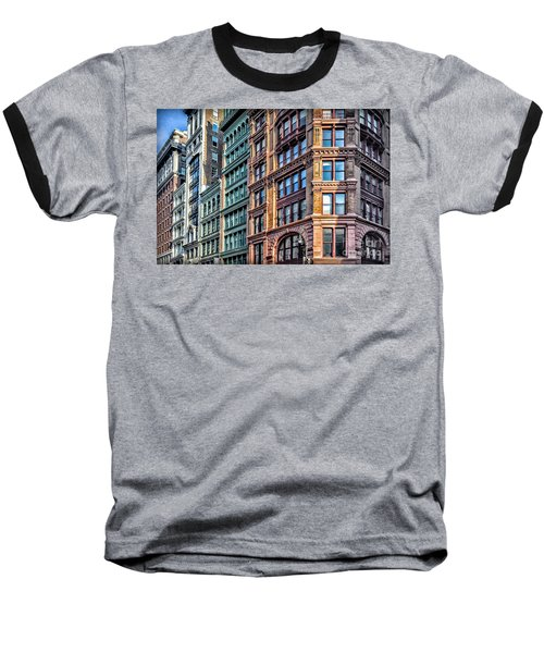 Baseball T-Shirt featuring the photograph Sights In New York City - Colorful Buildings by Walt Foegelle