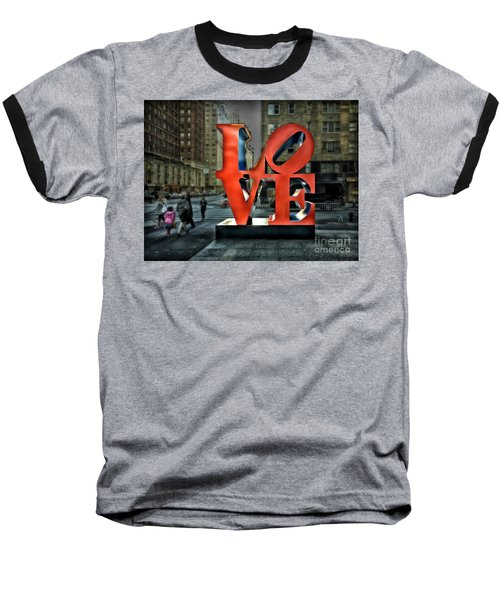 Baseball T-Shirt featuring the photograph Sights In New York City - Love Statue by Walt Foegelle