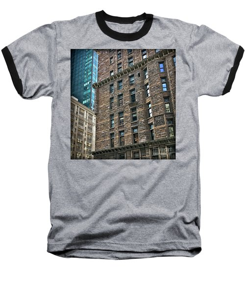 Baseball T-Shirt featuring the photograph Sights In New York City - Old And New by Walt Foegelle