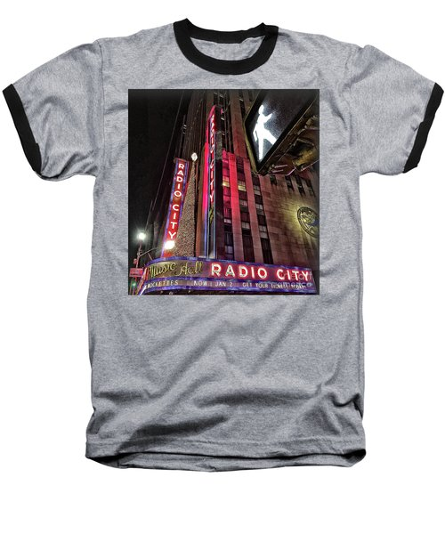 Baseball T-Shirt featuring the photograph Sights In New York City - Radio City by Walt Foegelle