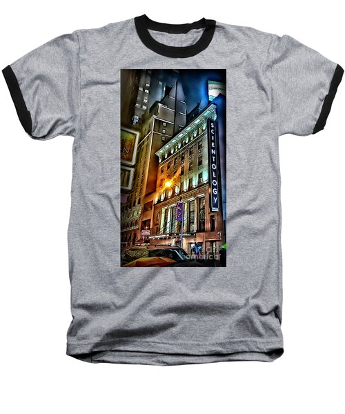 Baseball T-Shirt featuring the photograph Sights In New York City - Scientology by Walt Foegelle