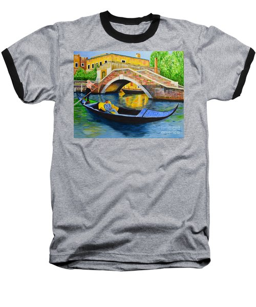 Sightseeing Baseball T-Shirt by Melvin Turner