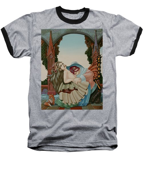 Sigmund Freud With A Fox Baseball T-Shirt