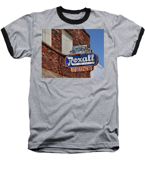 Sign Of The Past Baseball T-Shirt by David and Carol Kelly