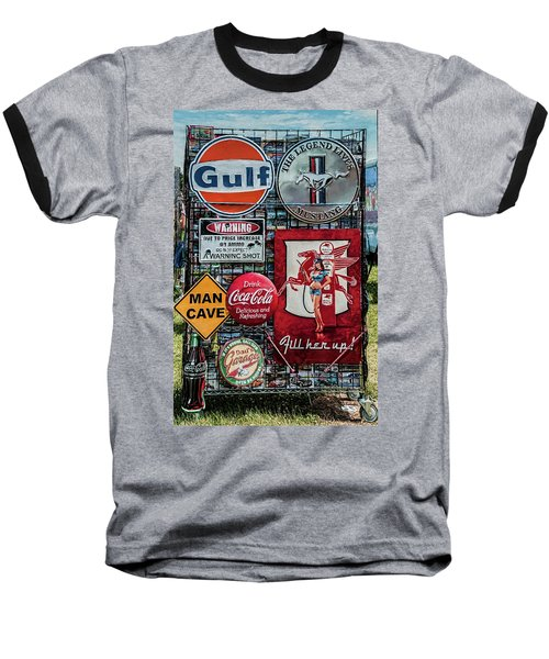 Baseball T-Shirt featuring the photograph Sign Rack by Trey Foerster