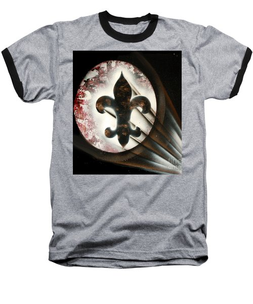 Baseball T-Shirt featuring the painting Signal Di Lis by Tbone Oliver