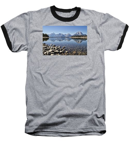 Jackson Lake  Near Signal Mountain Lodge Baseball T-Shirt by Shirley Mitchell
