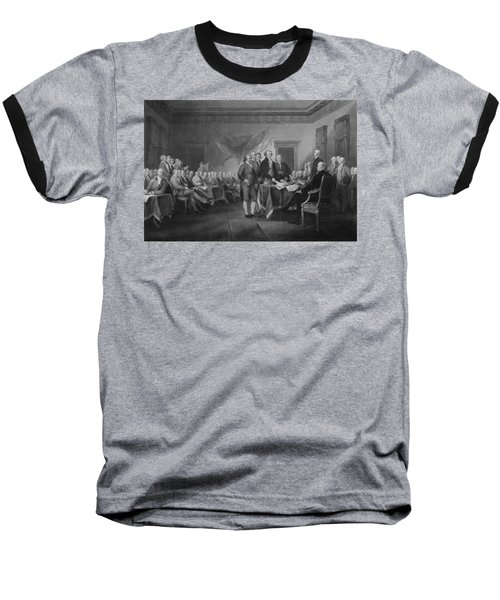 Signing The Declaration Of Independence Baseball T-Shirt by War Is Hell Store