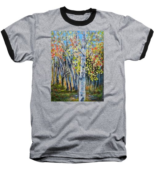 Signs Of Autumn Baseball T-Shirt by Patti Gordon