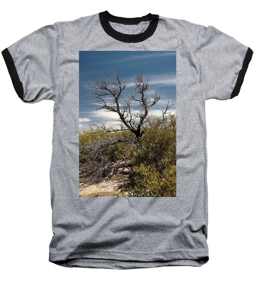Baseball T-Shirt featuring the photograph Signs Of Life After The Fire by Joe Kozlowski