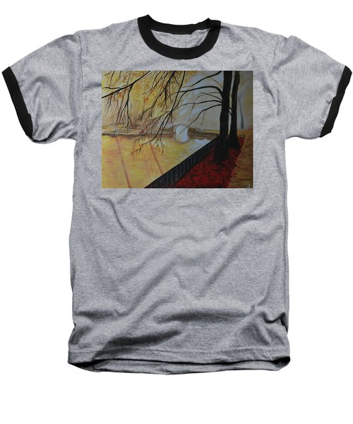 Baseball T-Shirt featuring the painting Silence by Leslie Allen