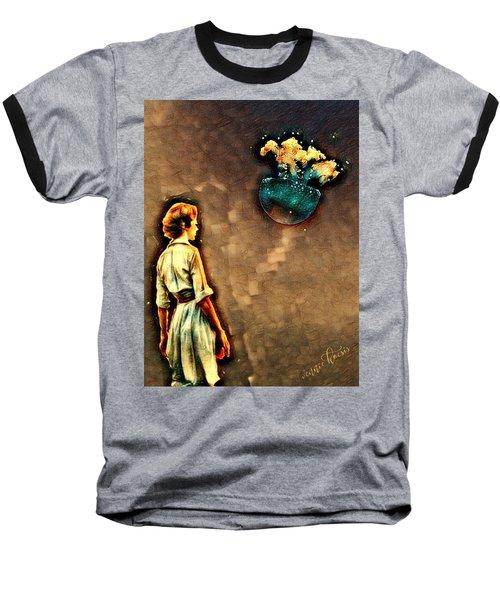 Silence Must Be Heard Baseball T-Shirt by Vennie Kocsis