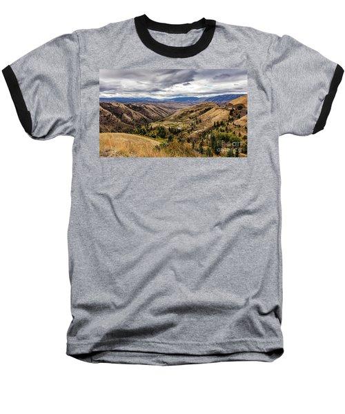 Silence Of Whitebird Canyon Idaho Journey Landscape Photography By Kaylyn Franks  Baseball T-Shirt