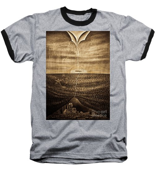Silent Echo Beige Baseball T-Shirt