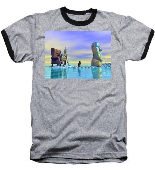 Silent Mind - Surrealism Baseball T-Shirt