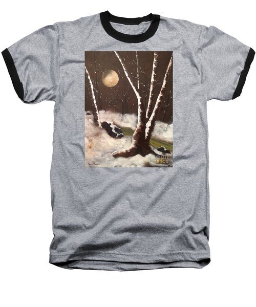 Baseball T-Shirt featuring the painting Silent Night by Denise Tomasura