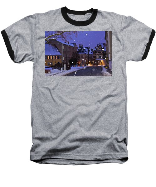 Silent Night In Bamberg, Germany #2 Baseball T-Shirt