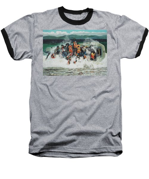 Baseball T-Shirt featuring the painting Silent Screams by Eric Kempson