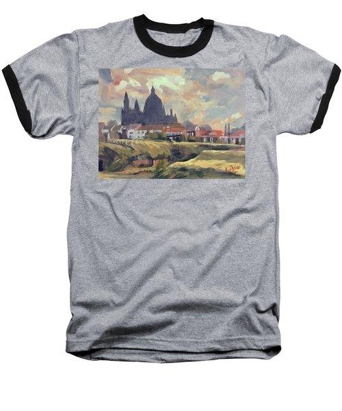 Silhouet Saint Lambertus Church Maastricht Baseball T-Shirt