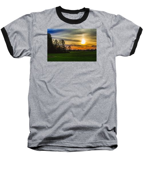 Silhouette And Sunset Baseball T-Shirt