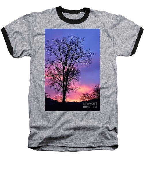 Baseball T-Shirt featuring the photograph Silhouette At Dawn by Larry Ricker