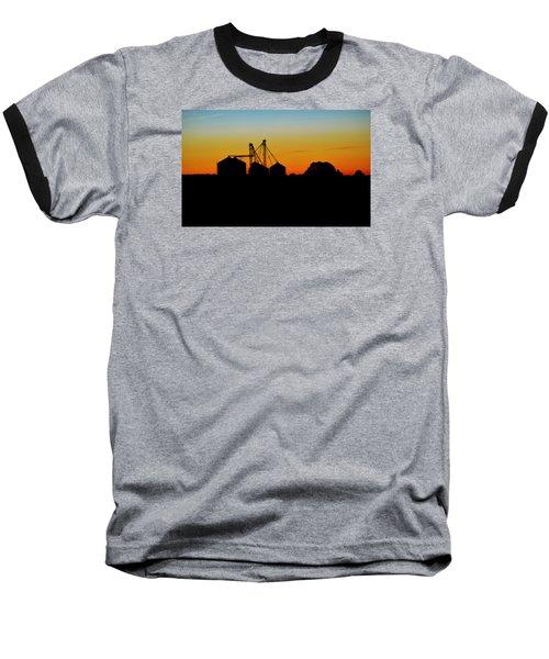 Silhouette Farm Baseball T-Shirt by William Bartholomew