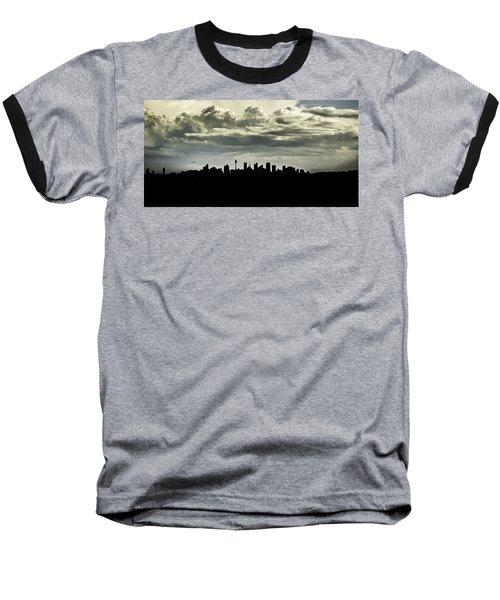 Silhouette Of Sydney Baseball T-Shirt