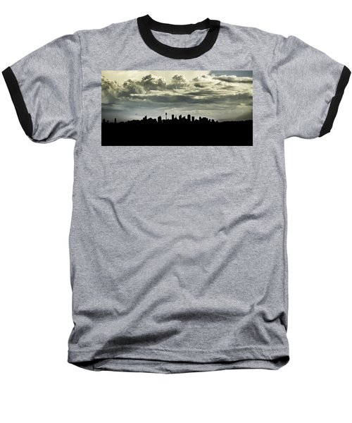 Silhouette Of Sydney Baseball T-Shirt
