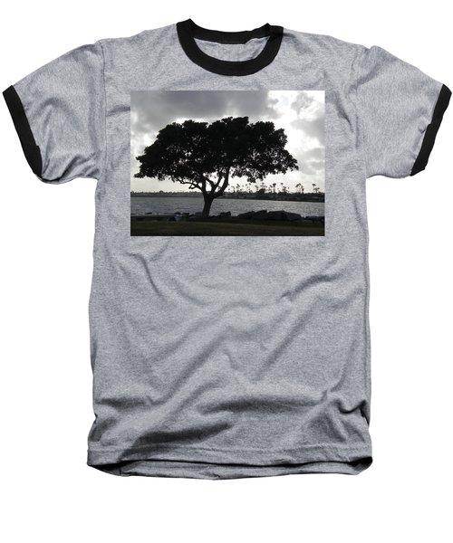 Silhouette Of Tree Baseball T-Shirt