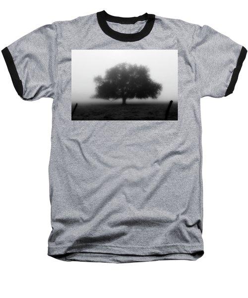 Silhouette Of Tree In Field Baseball T-Shirt