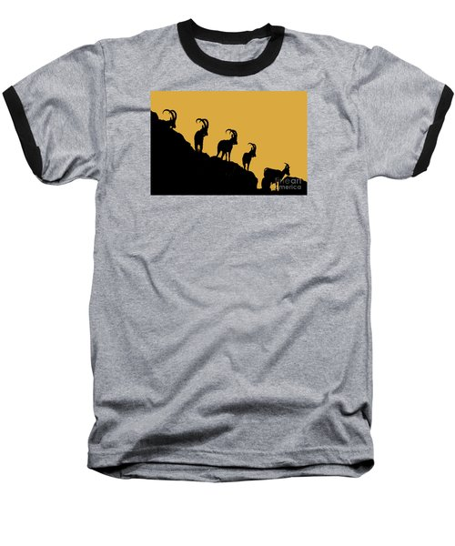 Silhouette Sunrise Baseball T-Shirt