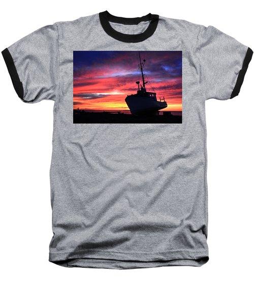 Silhouette Sunset Baseball T-Shirt