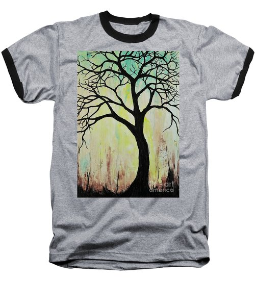 Silhouette Tree 2018 Baseball T-Shirt