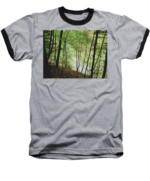 Silhouetted Trees Baseball T-Shirt