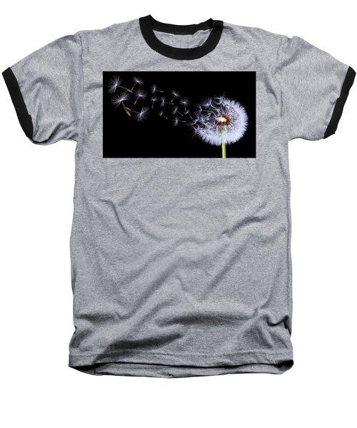 Silhouettes Of Dandelions Baseball T-Shirt by Bess Hamiti