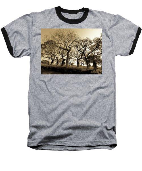 Silk Floss Trees In Sepia Baseball T-Shirt