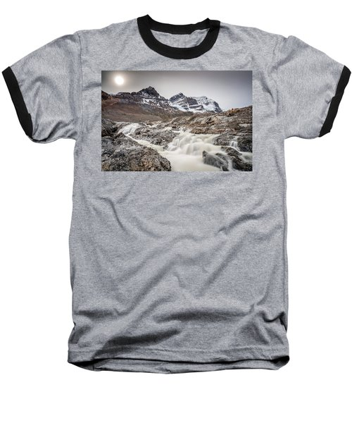 Baseball T-Shirt featuring the photograph Silky Melt Water Of Athabasca Glacier by Pierre Leclerc Photography