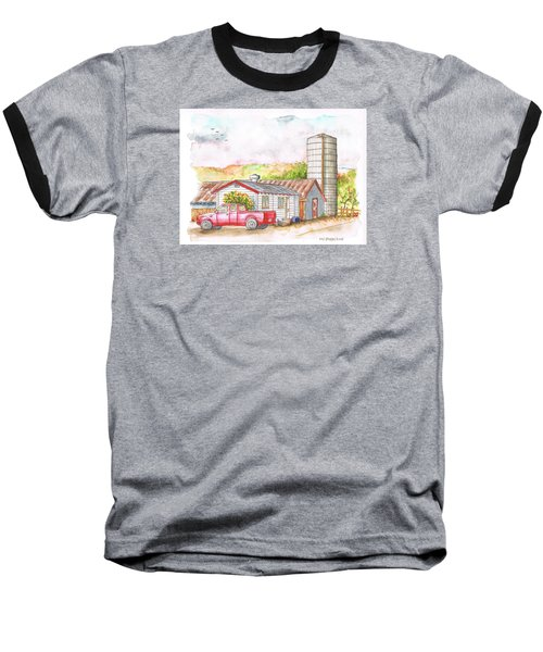 Silo In Los Olivos, California Baseball T-Shirt