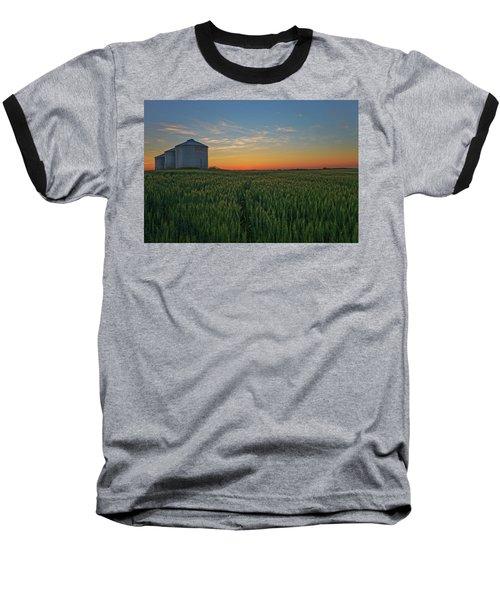Silos At Sunset Baseball T-Shirt