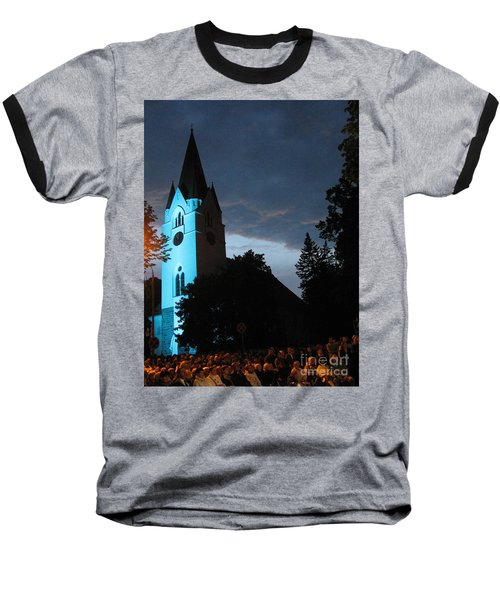 Baseball T-Shirt featuring the photograph Silute Lutheran Evangelic Church Lithuania by Ausra Huntington nee Paulauskaite